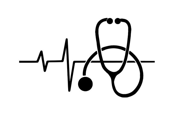 Piktogramm aus EKG und Phonendoskop